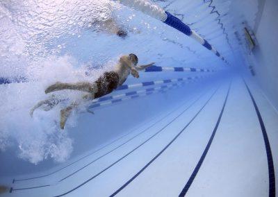 Photo of swimmers taking part in the Haywards Heath Lions 2018 Swimarathon Event
