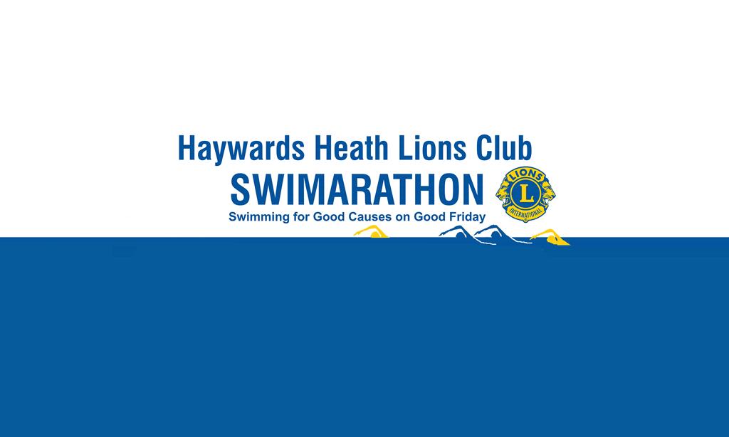 Haywards Heath Lions Club 2022 Swimarathon Banner Image