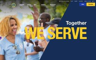Screenshot of the Lions International website homepage